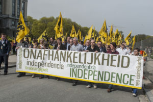 European regional nationalists protest movements.