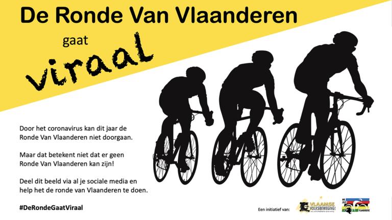 Ook dit jaar kleurt de Vlaamse Volksbeweging de Ronde zwart en Geel