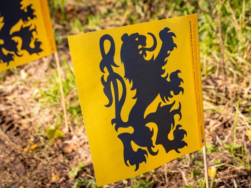 Papieren Vlaamse leeuw vlag